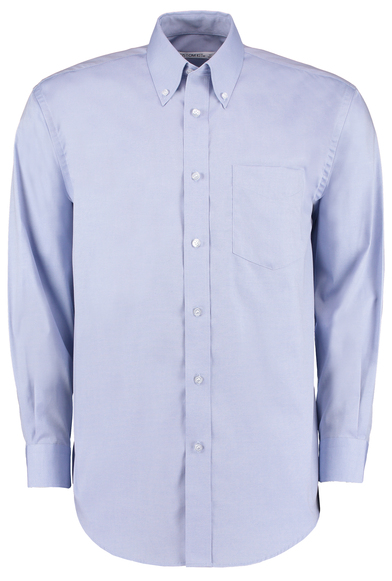 Corporate Oxford Shirt Long-sleeved (classic Fit) In Light Blue