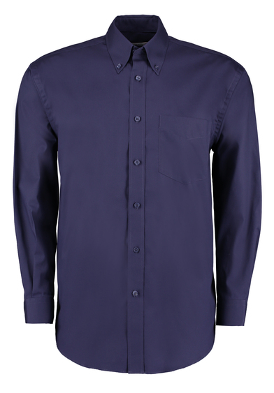 Corporate Oxford Shirt Long-sleeved (classic Fit) In Midnight Navy