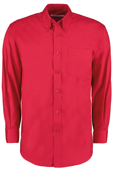 Corporate Oxford Shirt Long-sleeved (classic Fit) In Red