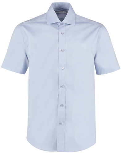 Executive Premium Oxford Shirt Short-sleeved (classic Fit) In Light Blue