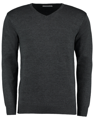 Arundel V-neck Sweater Long Sleeve (classic Fit) In Graphite