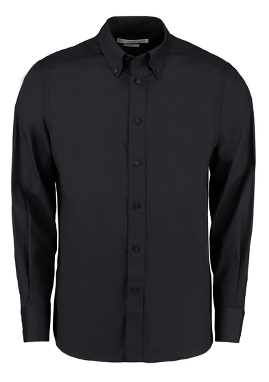 City Business Shirt Long-sleeved (tailored Fit) In Black