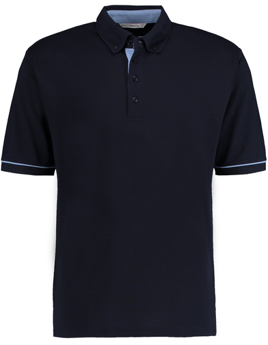Button-down Collar Contrast Polo (classic Fit) In Navy/Light Blue