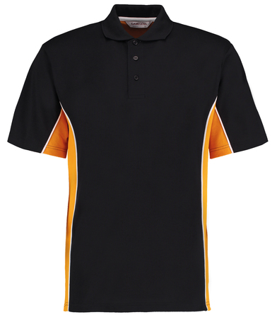 Gamegear Track Polo (classic Fit) In Black/Gold/White