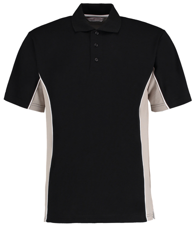 Gamegear Track Polo (classic Fit) In Black/Grey/White