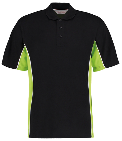 Gamegear Track Polo (classic Fit) In Black/Lime/White