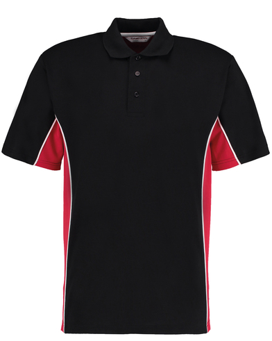 Gamegear Track Polo (classic Fit) In Black/Red/White