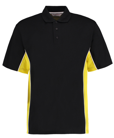 Gamegear Track Polo (classic Fit) In Black/Yellow/White