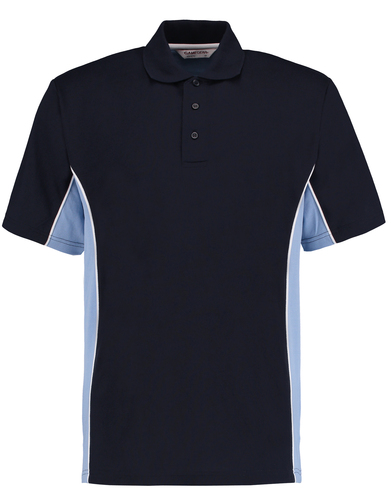 Gamegear Track Polo (classic Fit) In Navy/Light Blue/White