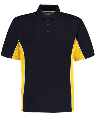 Gamegear Track Polo (classic Fit) In Navy/Mid Yellow/White