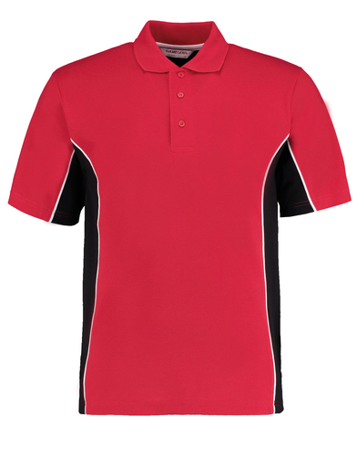 Gamegear Track Polo (classic Fit) In Red/Black/White