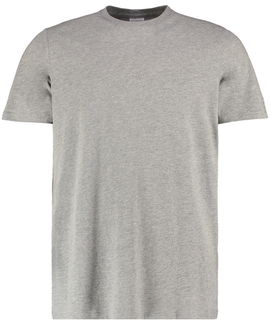 Cotton Tee (fashion Fit) In Heather Grey