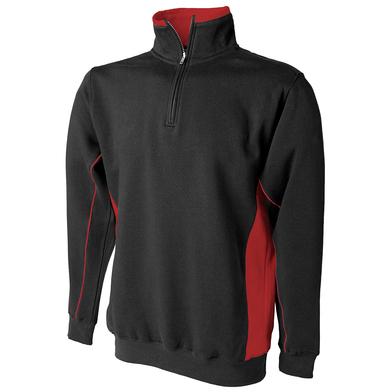 _ Zip Sweatshirt In Black/Red