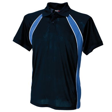 Jersey Team Polo In Navy/Royal/White