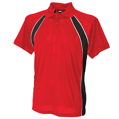 Jersey Team Polo In Red/Black/White