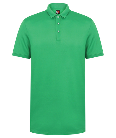 Contrast Panel Polo In Kelly Green/White