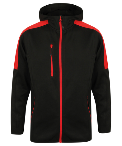 Active Softshell Jacket In Black/Red