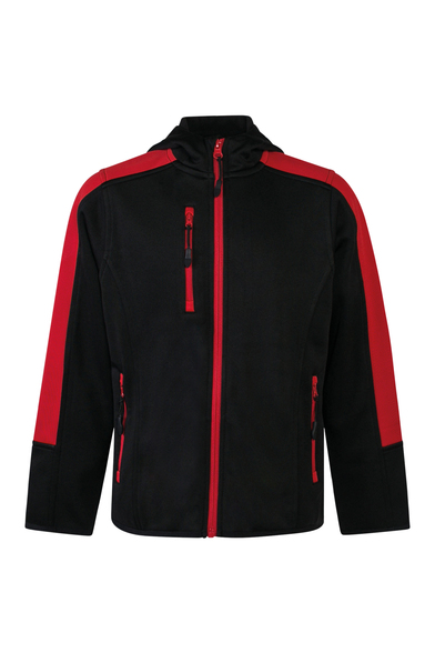 Kids Active Softshell Jacket In Black/Red