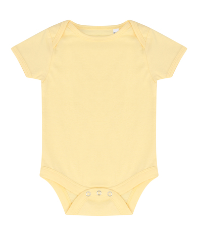 Essential Short-sleeved Bodysuit In Pale Yellow