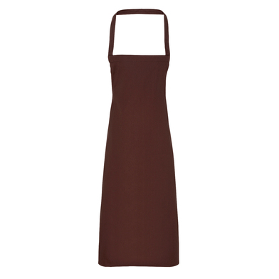 100% Cotton Apron - Organic Certified In Brown