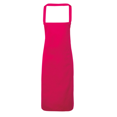 100% Cotton Apron - Organic Certified In Hot Pink