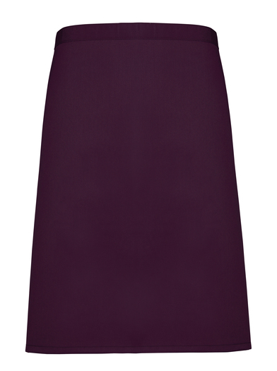Colours Mid-length Apron In Aubergine