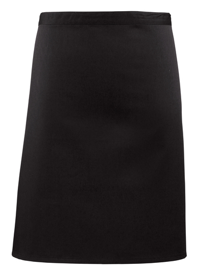 Colours Mid-length Apron In Black