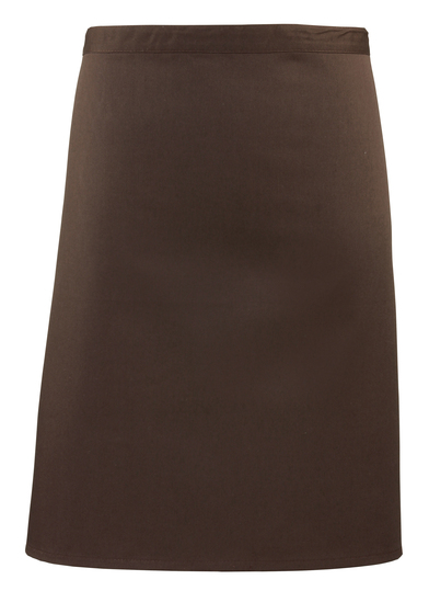 Colours Mid-length Apron In Brown