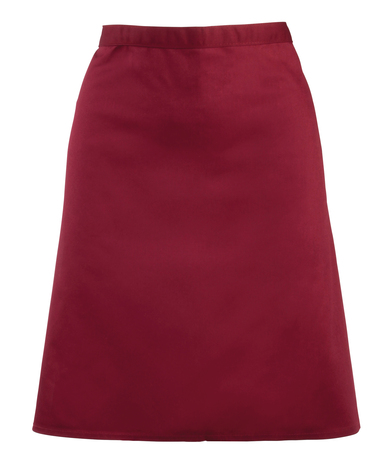 Colours Mid-length Apron In Burgundy