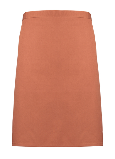 Colours Mid-length Apron In Chestnut