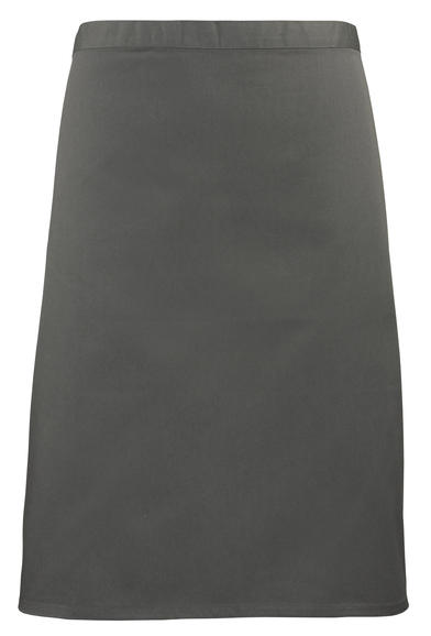 Colours Mid-length Apron In Dark Grey