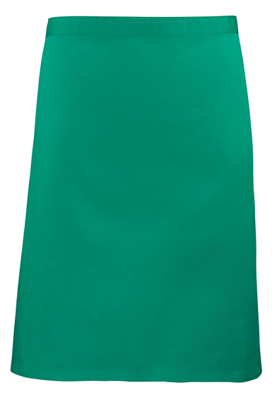 Colours Mid-length Apron In Emerald