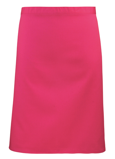 Colours Mid-length Apron In Hot Pink