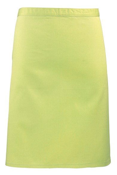 Colours Mid-length Apron In Lime