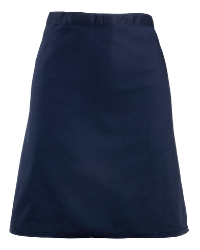 Colours Mid-length Apron In Navy