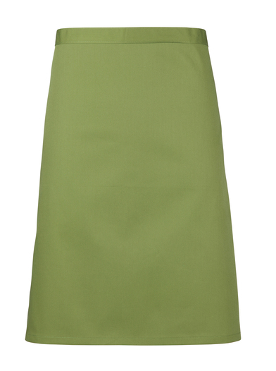 Colours Mid-length Apron In Oasis Green