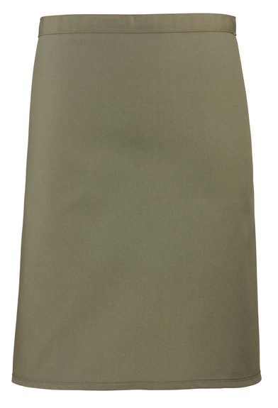 Colours Mid-length Apron In Olive