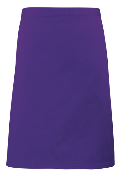 Colours Mid-length Apron In Purple