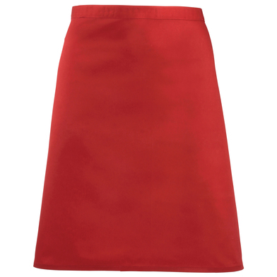 Colours Mid-length Apron In Red