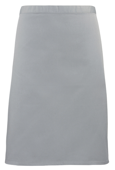 Colours Mid-length Apron In Silver Grey