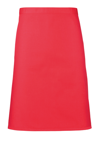 Colours Mid-length Apron In Strawberry Red