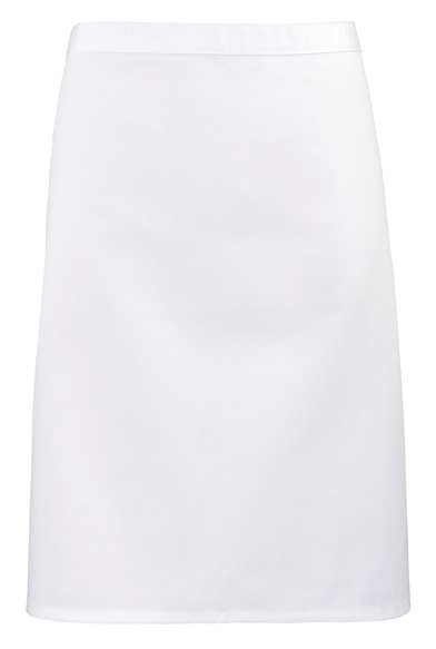 Colours Mid-length Apron In White