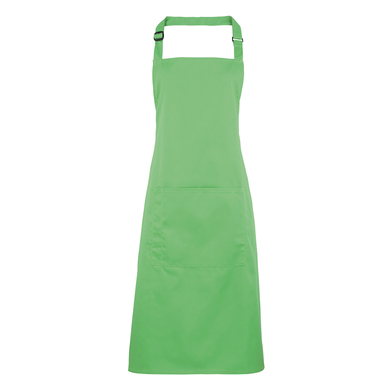 Colours Bib Apron With Pocket In Apple
