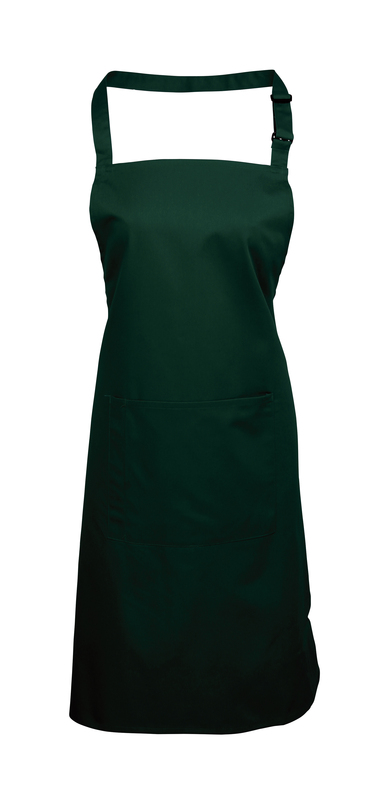 Colours Bib Apron With Pocket In Bottle