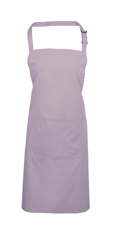 Colours Bib Apron With Pocket In Lilac