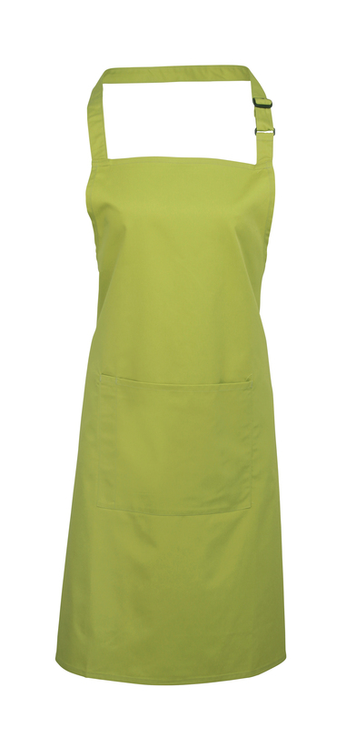 Colours Bib Apron With Pocket In Lime