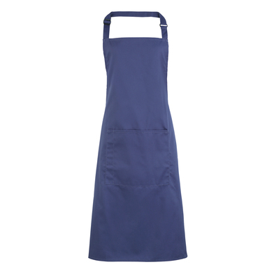 Colours Bib Apron With Pocket In Marine Blue