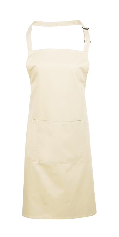 Colours Bib Apron With Pocket In Natural