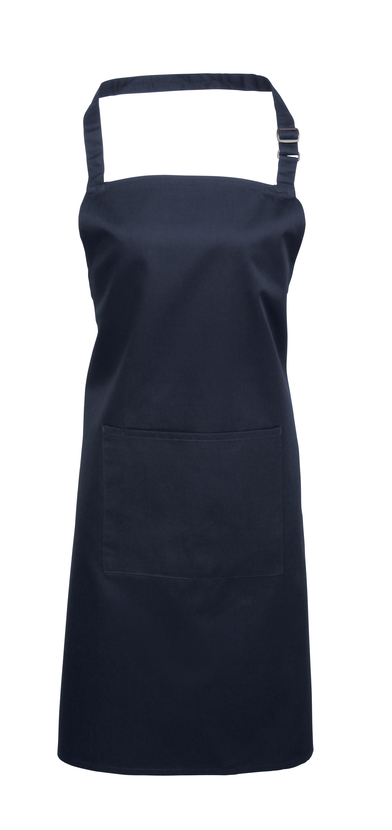 Colours Bib Apron With Pocket In Navy