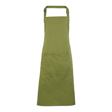 Colours Bib Apron With Pocket In Oasis Green